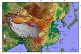 Carte topographique Chine