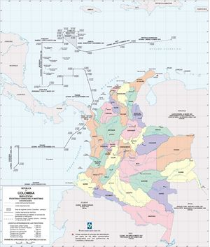 Carte politique Colombie