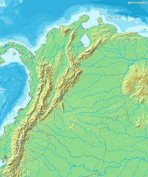 Carte topographique Colombie