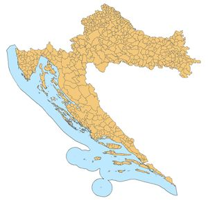 Carte départements Croatie