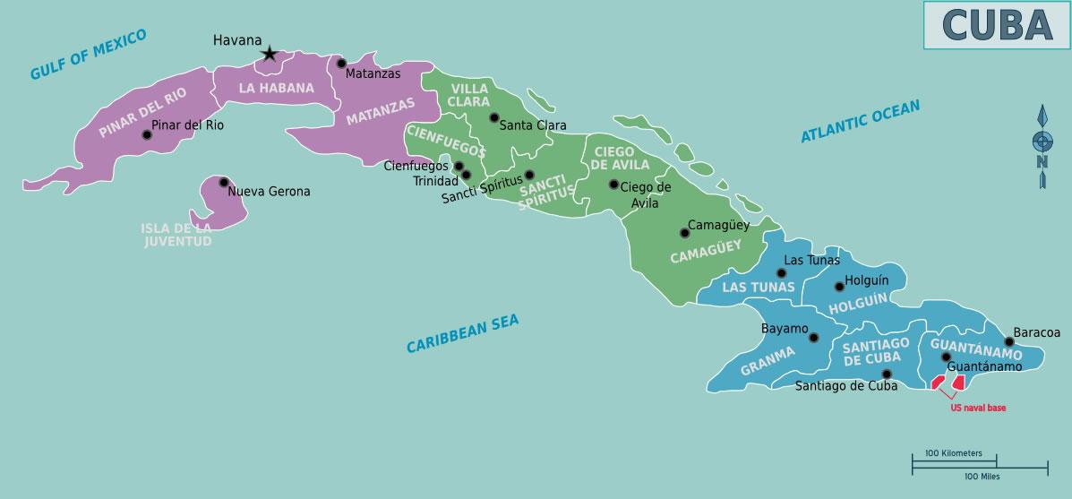 Carte Cuba Monde.Carte Regions Cuba Carte Des Regions De Cuba