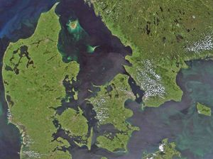 Carte satellite Danemark