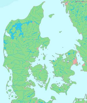 Carte topographique Danemark