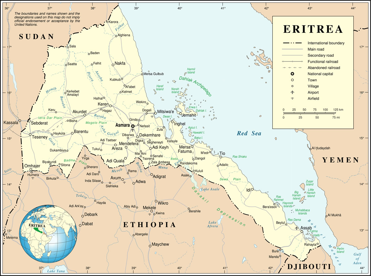 Érythrée, Érythrée