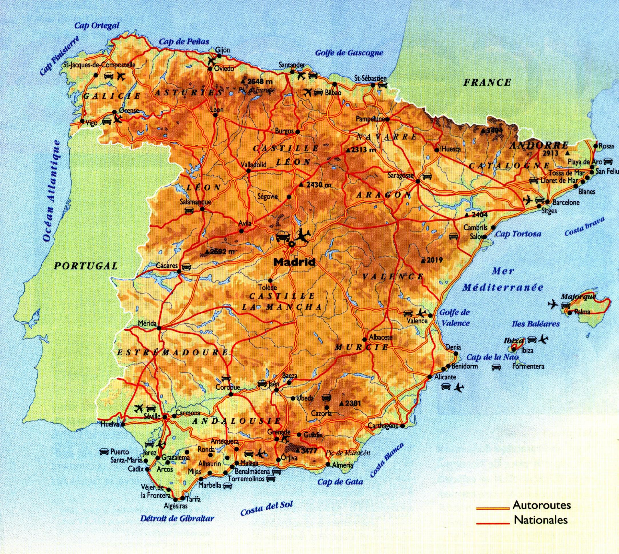 Barcelone Carte Espagne