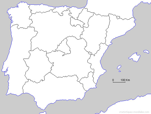 Carte Espagne Noir Et Blanc.Carte Noir Et Blanc Espagne Carte De L Espagne En Noir Et Blanc