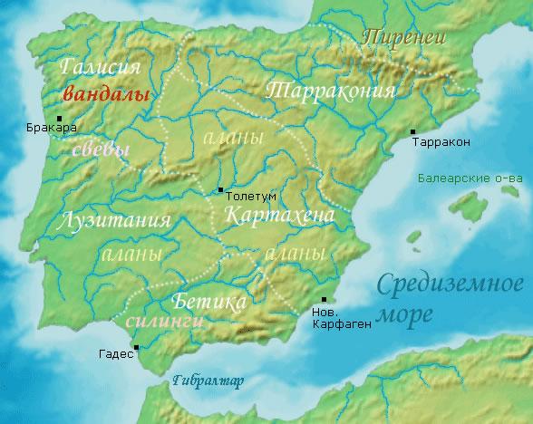 carte espagne fleuve
