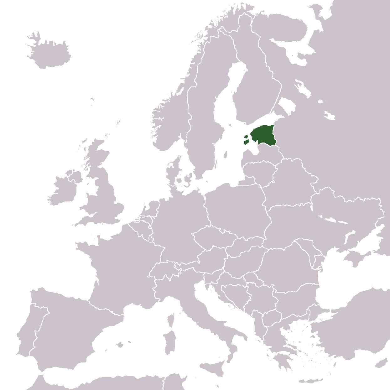 carte europe estonie