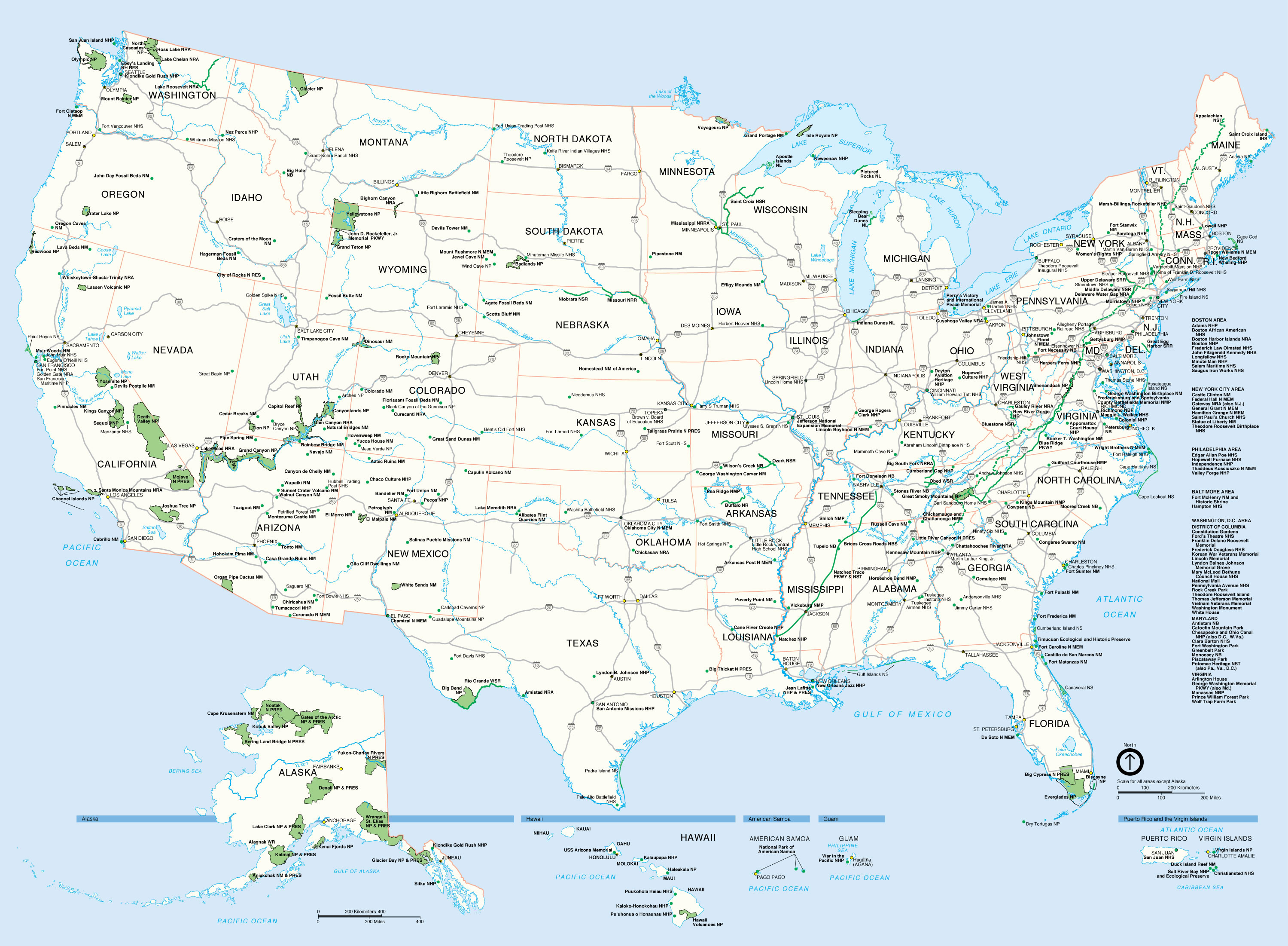 carte etats unis villes images