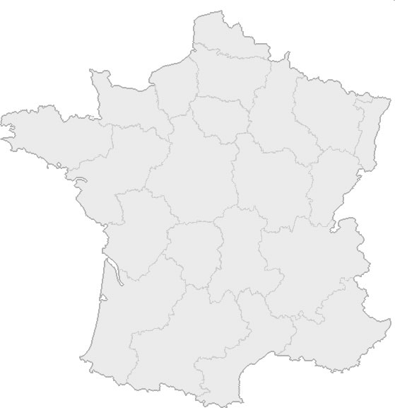 Carte de France vierge, Carte vierge de France