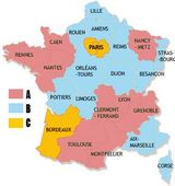 carte scolaire de France