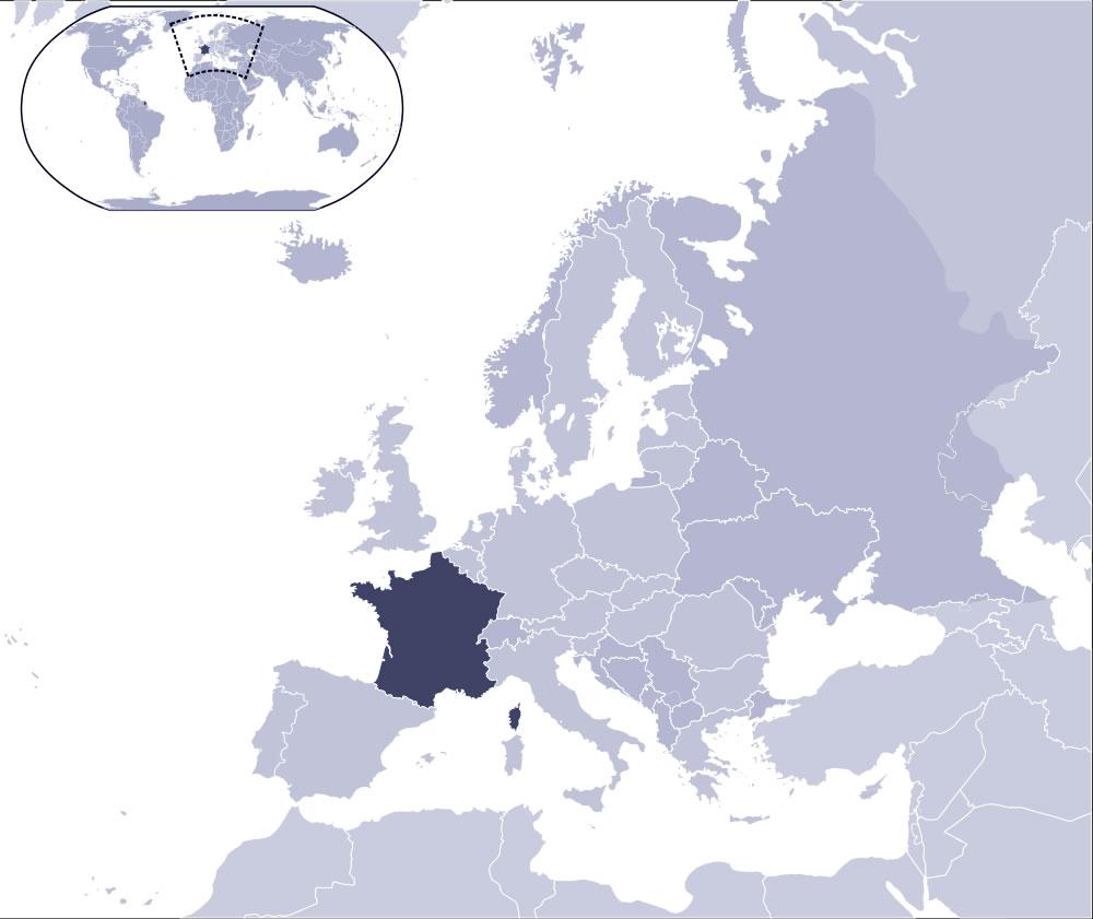 Localiser la France sur carte du monde, Localiser la carte de