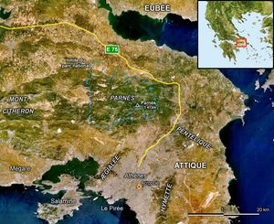 Carte satellite Grèce