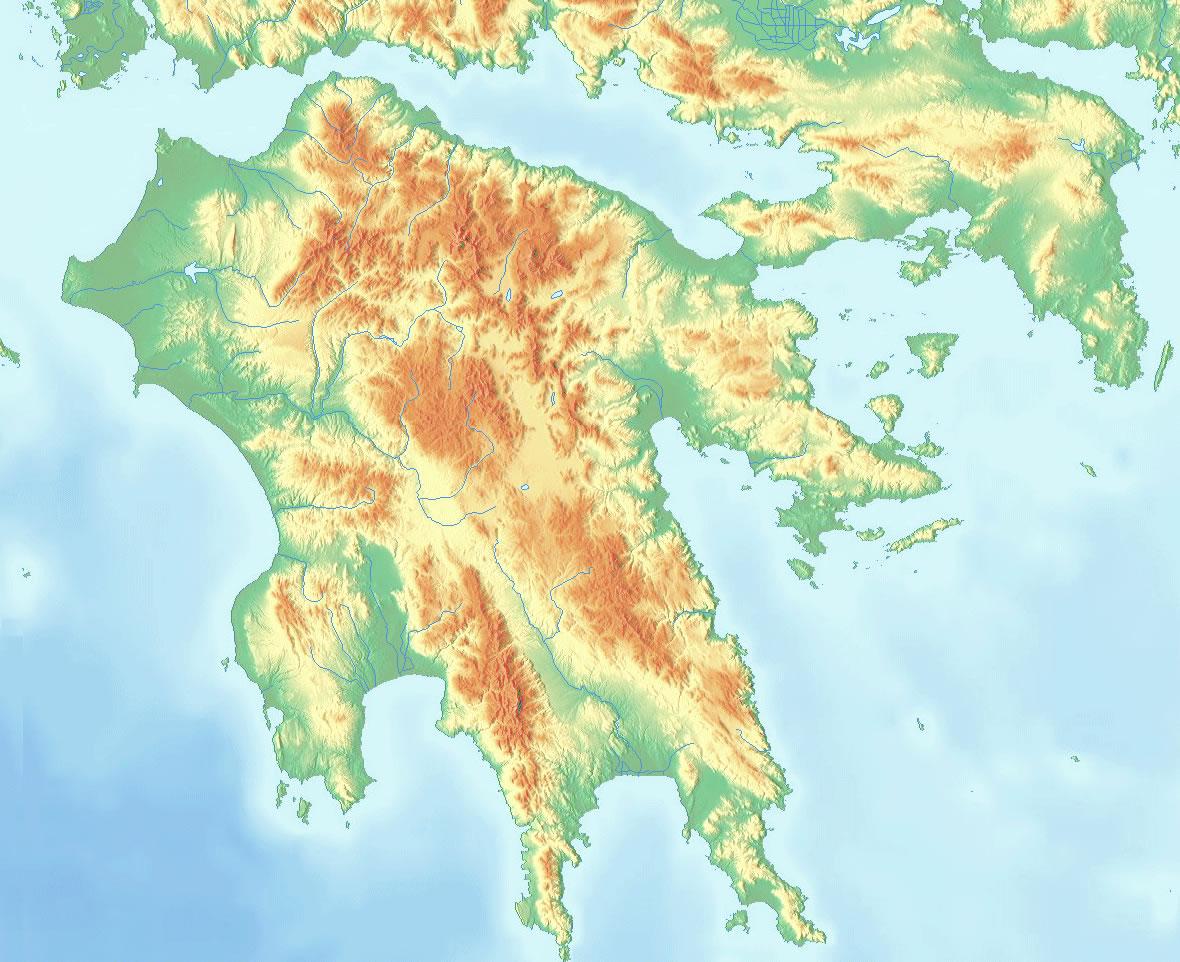 Grèce Carte Satellite