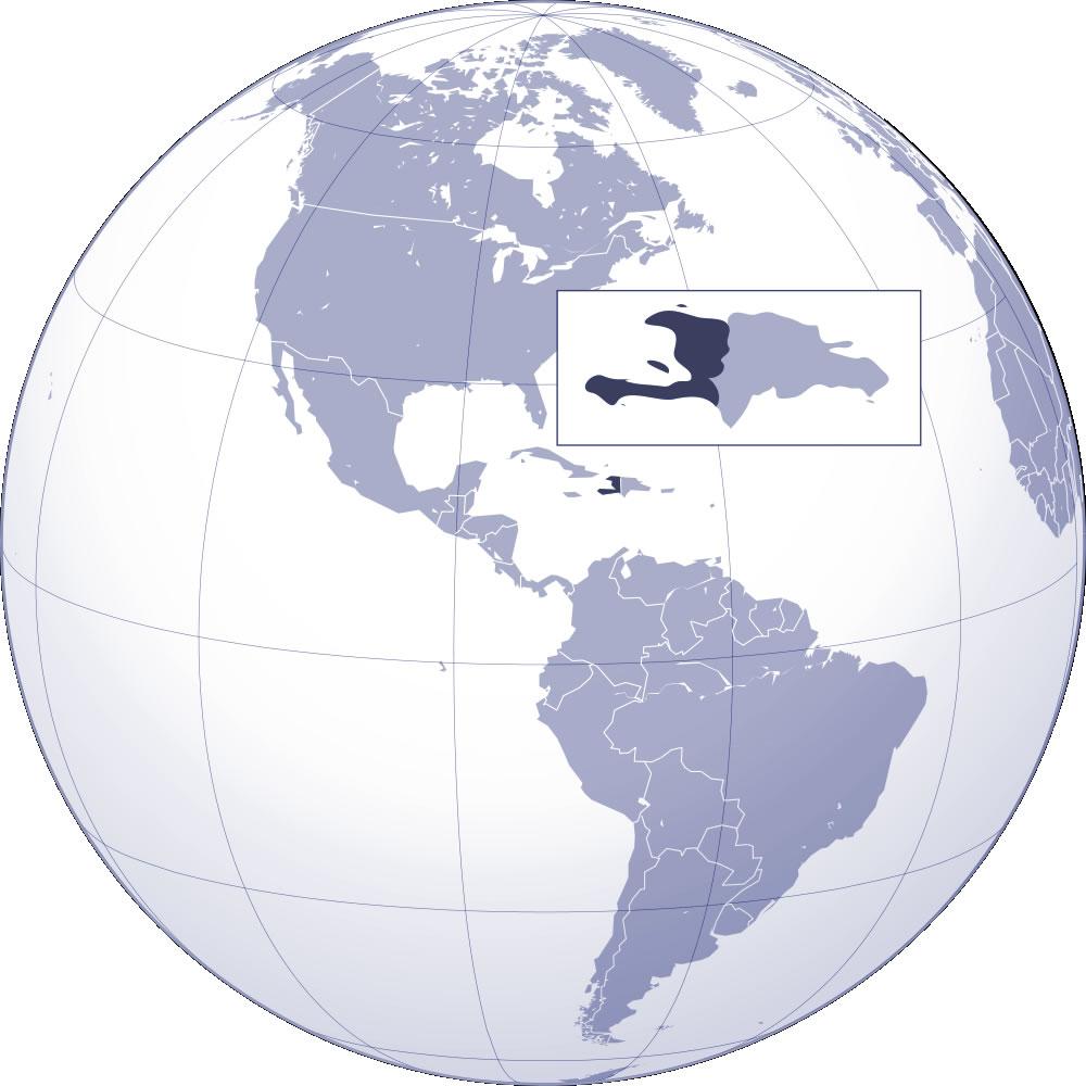 Localiser Haïti sur carte du monde, Localiser pays de Haïti sur