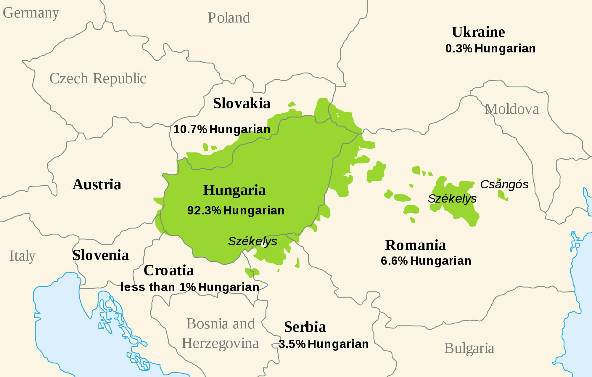 Carte Du Monde Hongrie.Carte Des Langues Hongrie Carte Des Langues De Hongrie