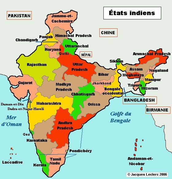 Birmanie Carte Regions.Inde Regions Carte