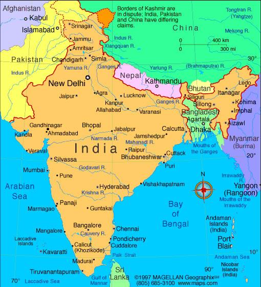 carte de l inde à imprimer Carte Inde, Carte de Inde