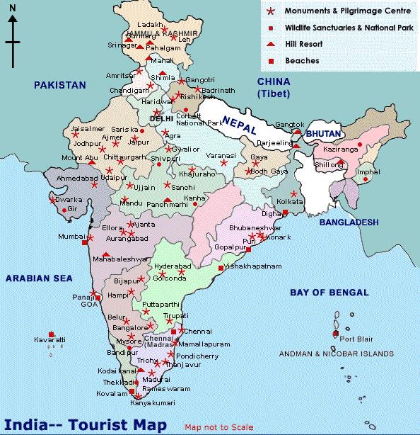 Carte De Linde Mysore.Carte Touristique Inde Carte Touristique De L Inde
