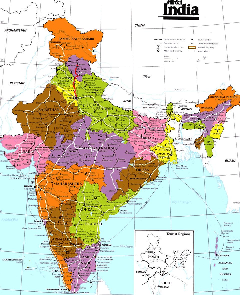 Carte Inde A Imprimer.Carte Inde Carte De Inde