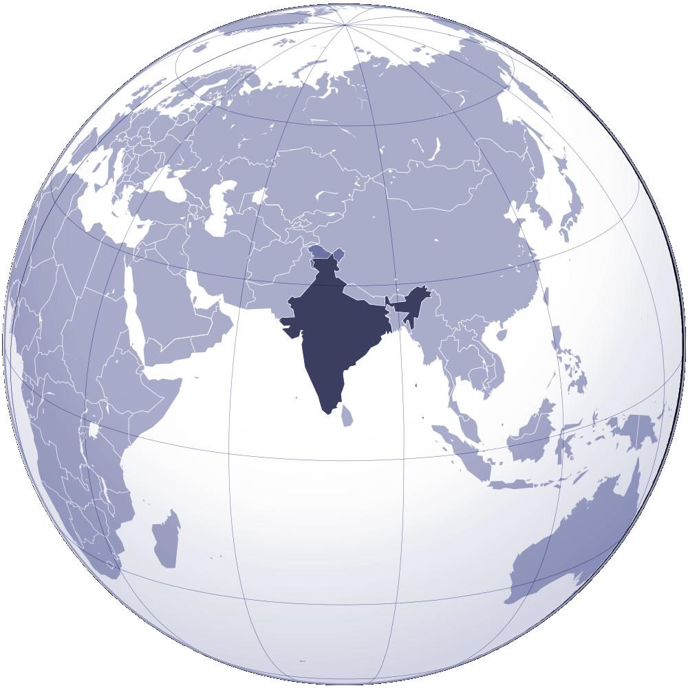 inde carte du monde - Image