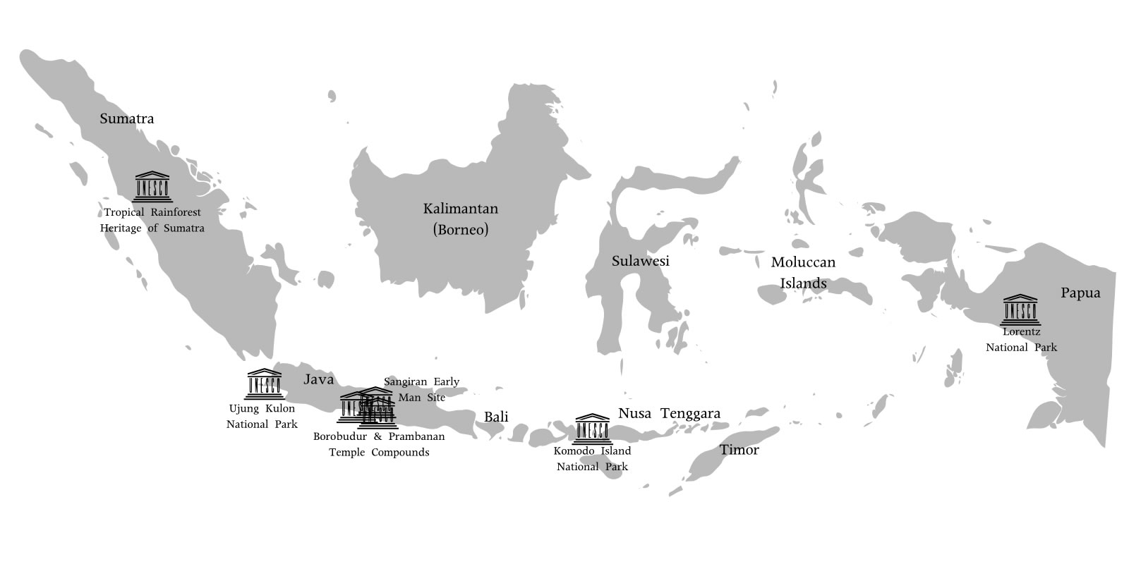 carte noir et blanc Carte noir et blanc Indonésie, Carte de Indonésie en noir et blanc