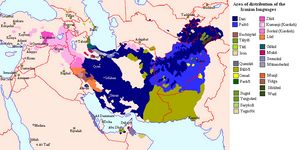 Carte population Iran