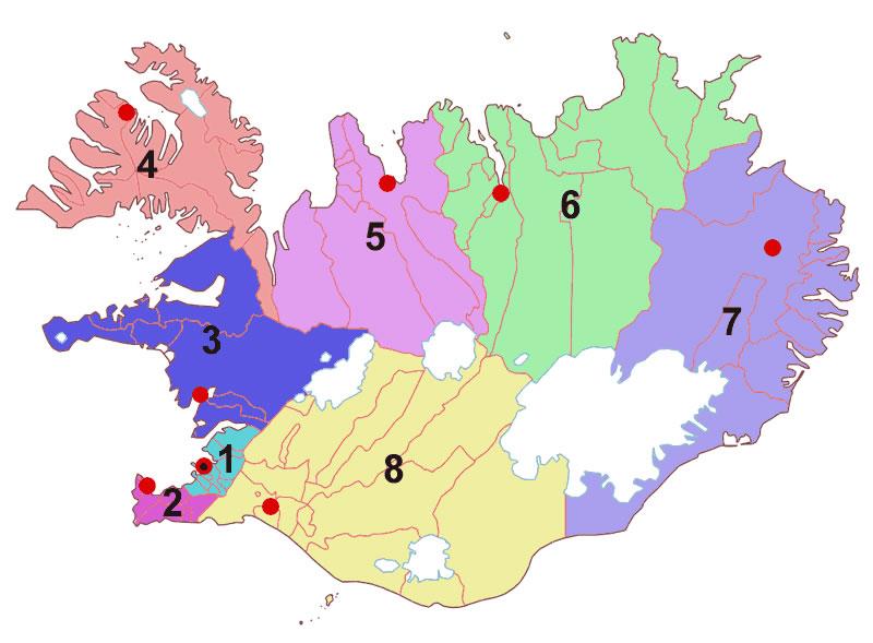 islande sur la carte du monde - Image