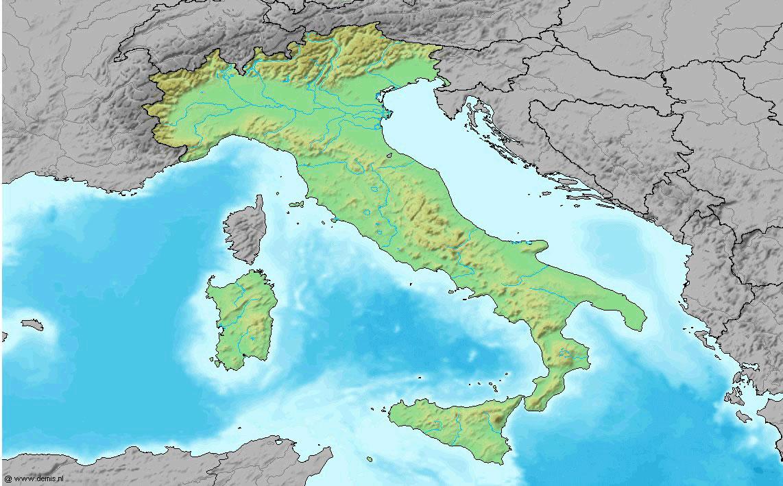 Carte géologique Italie, Carte géologique de l'Italie