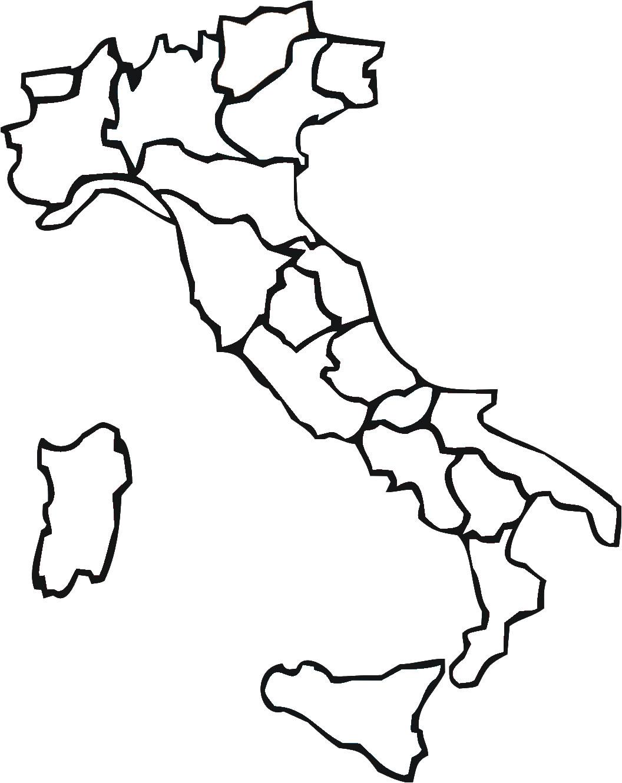 Carte Italie Vierge Regions Carte Vierge Des Regions De L Italie