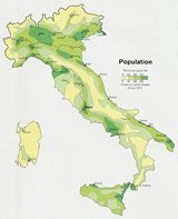 Carte population Italie