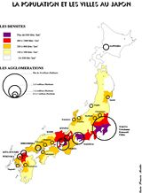Carte population Japon