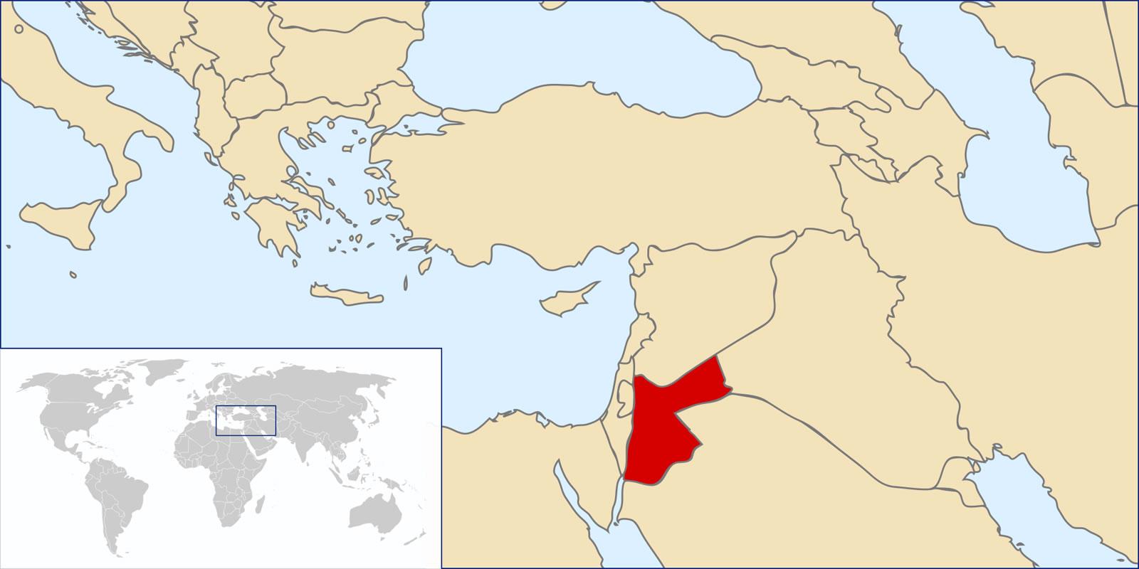 jordanie sur la carte du monde
