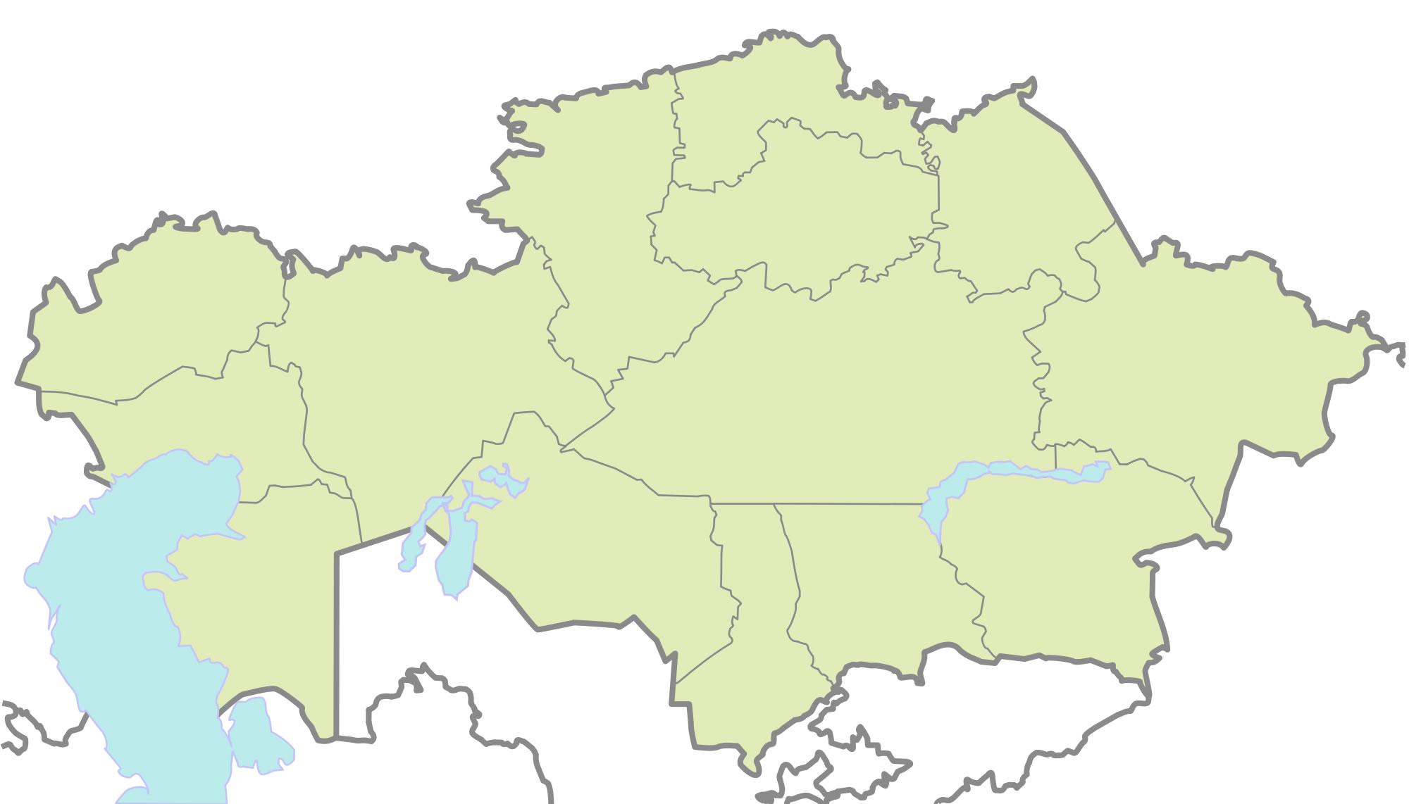 Carte kazakhstan vierge couleur carte vierge de kazakhstan en couleur - Carte du monde en couleur ...
