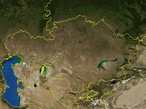 Carte satellite Kazakhstan