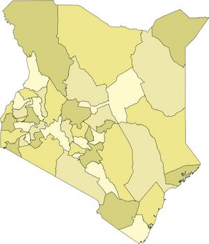 Carte kenya carte du pays kenya - Couleur du monde kenya ...