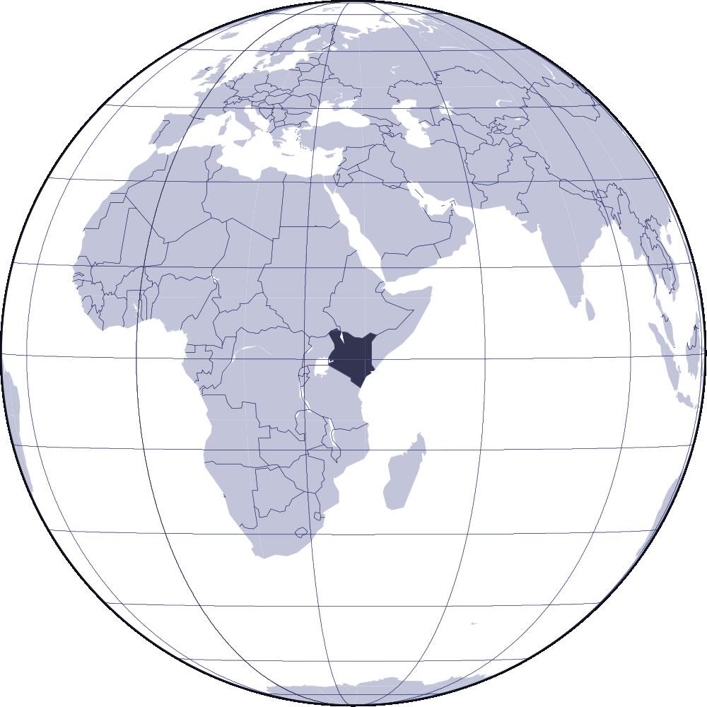 Localiser Kenya sur carte du monde, Localiser pays de Kenya sur