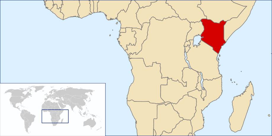 Situer Kenya sur carte du monde, Situer pays de Kenya sur carte du