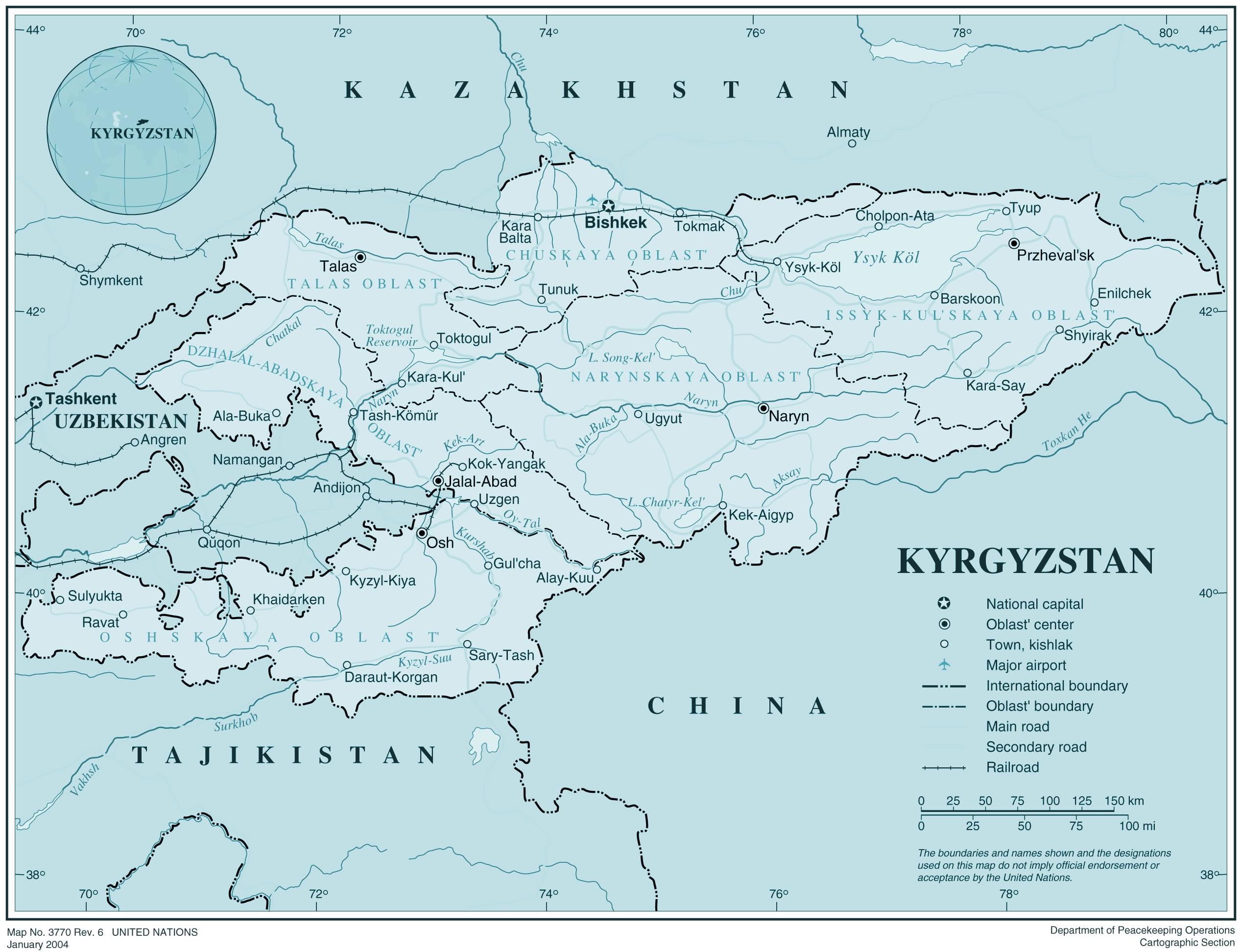 Carte Du Monde Kirghizistan.Kirghizistan Kirghizistan