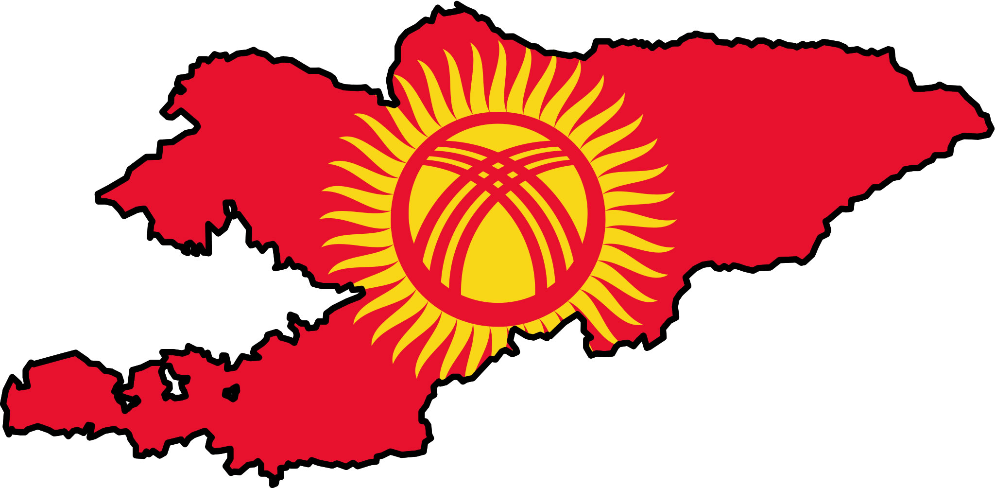 la kirghizie drapeau