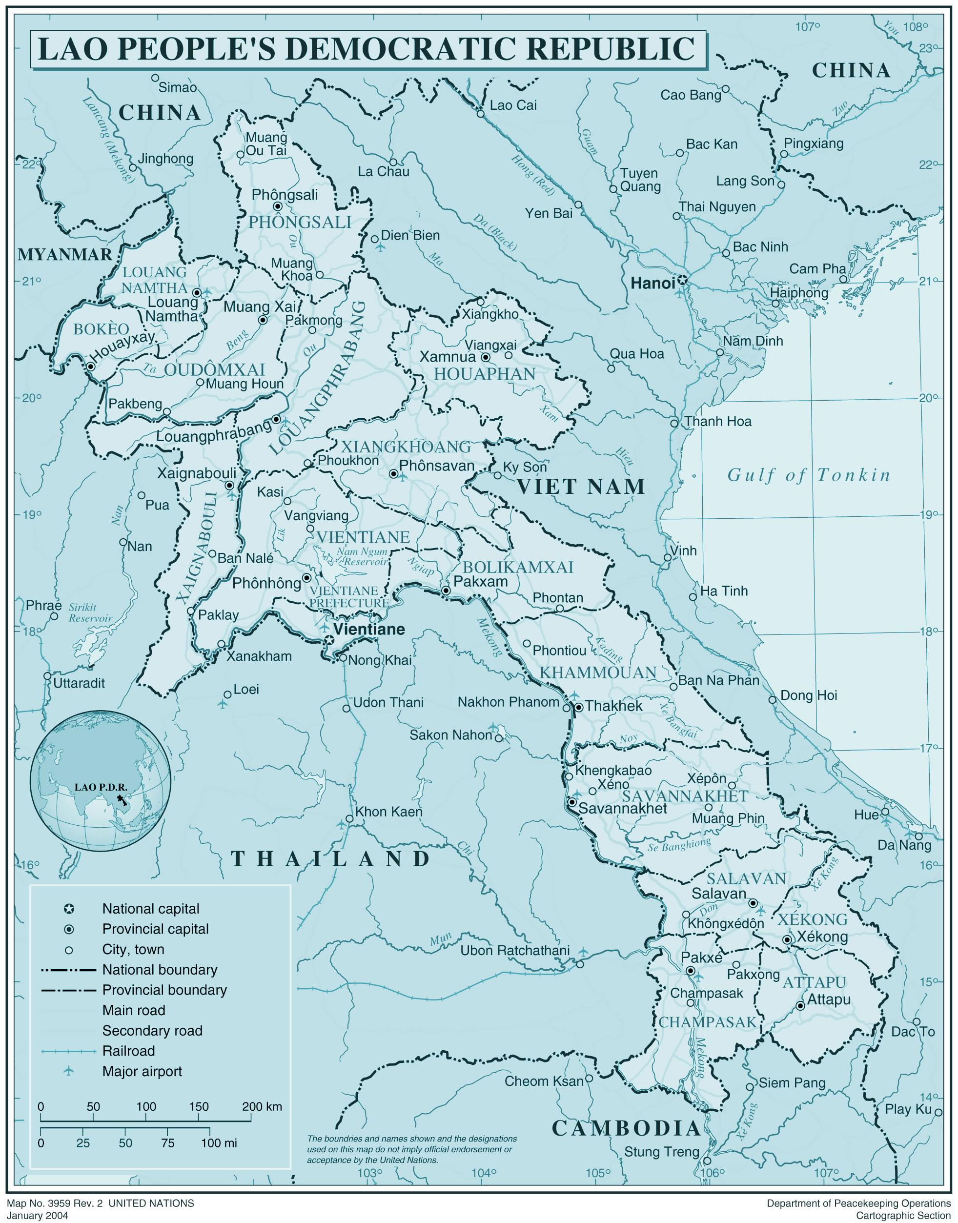 Carte Du Monde Laos.Laos Laos