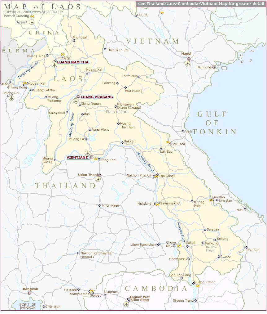 Carte Du Monde Laos.Grande Carte Laos Grande Carte De Laos