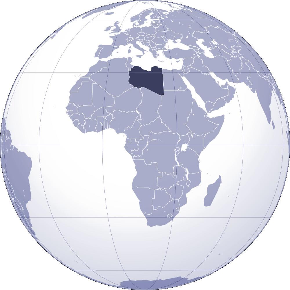 Libye sur la carte du monde