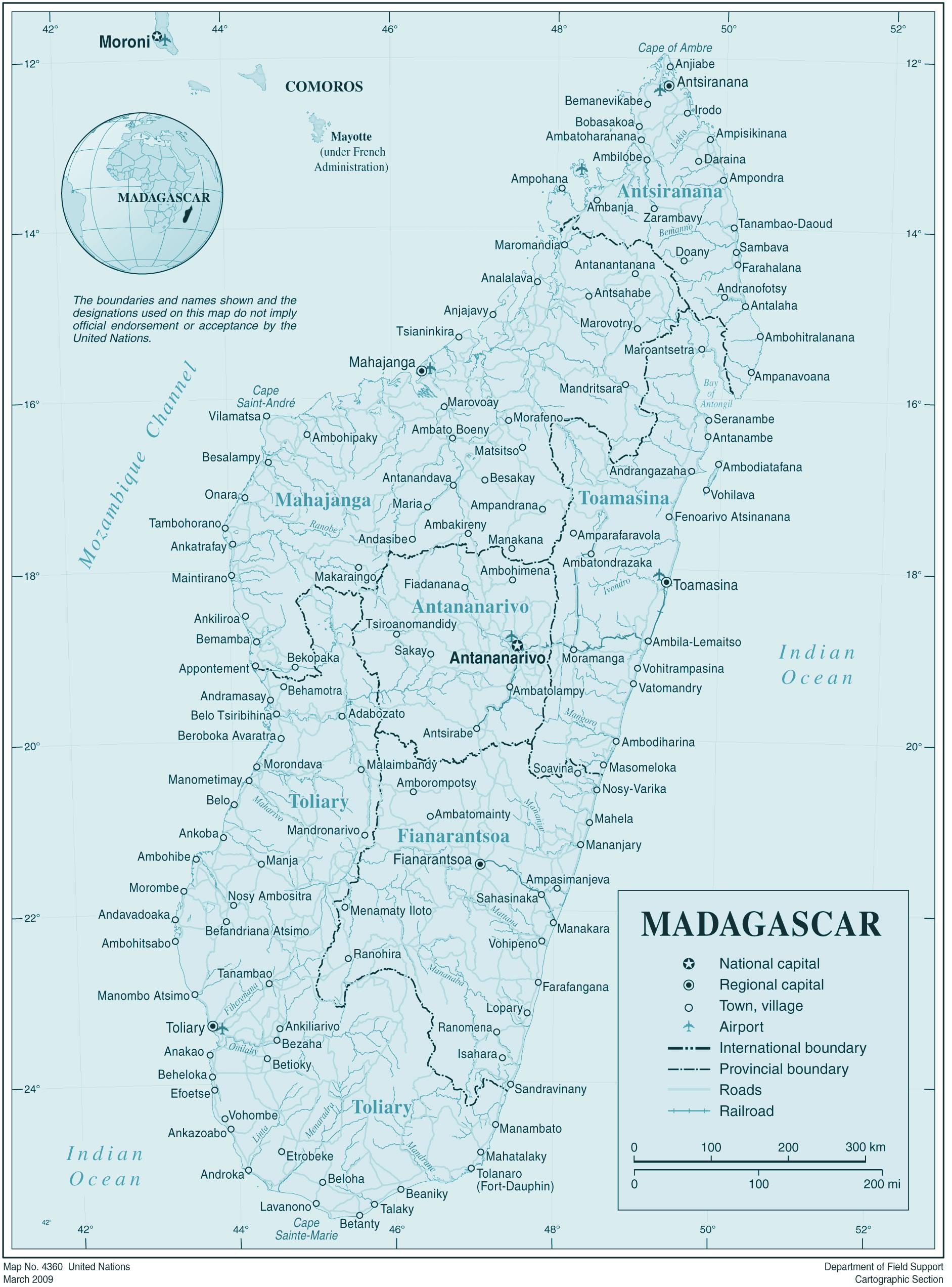 Carte De Madagascar A Imprimer.Carte Madagascar Carte De Madagascar