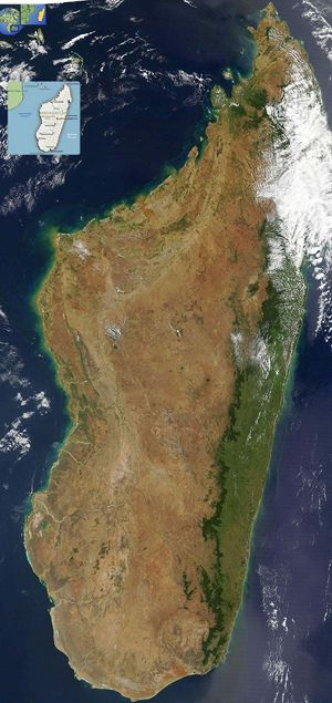 Carte satellite Madagascar