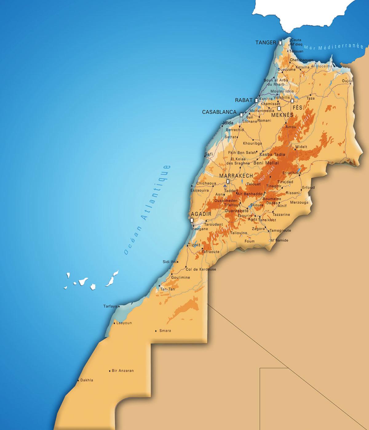 maroc relief