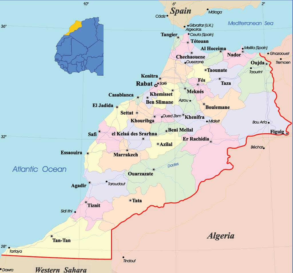 carte du maroc à imprimer Carte Maroc, Carte de Maroc