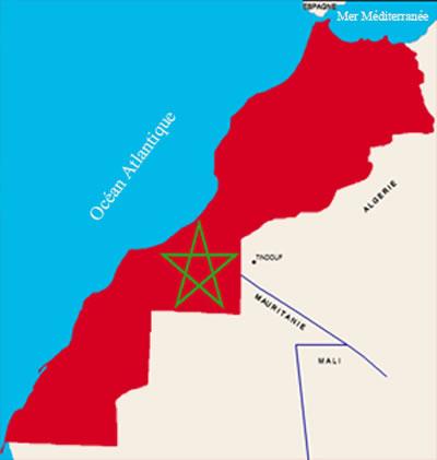 carte du maroc avec sahara - Photo