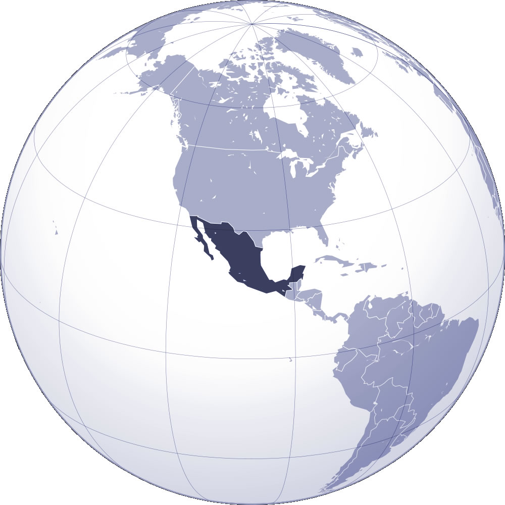 mexique carte du monde - Image