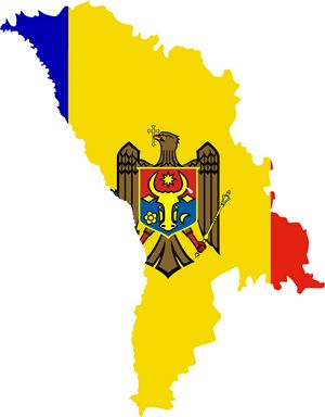 Carte drapeaux Moldavie